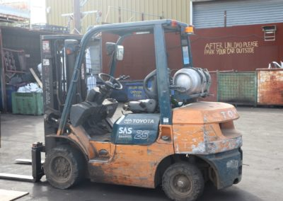 forklift in our scrap yard melbourne