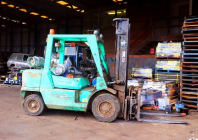one of our forklifts doing scrap metal duties