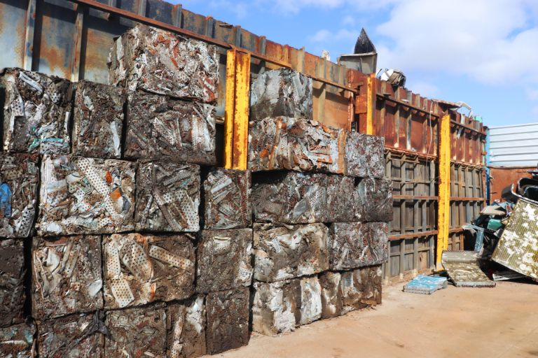 Scrap metal recycled and ready to export from Australia to the world